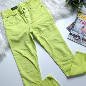 J. Crew • Midrise toothpick corduroy jeans, lime